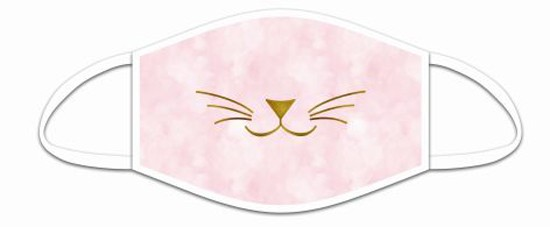 Mund Nasen Maske aus Stoff, Katzenschnäuzchen, waschbar bis 70°, kein Medizinprodukt