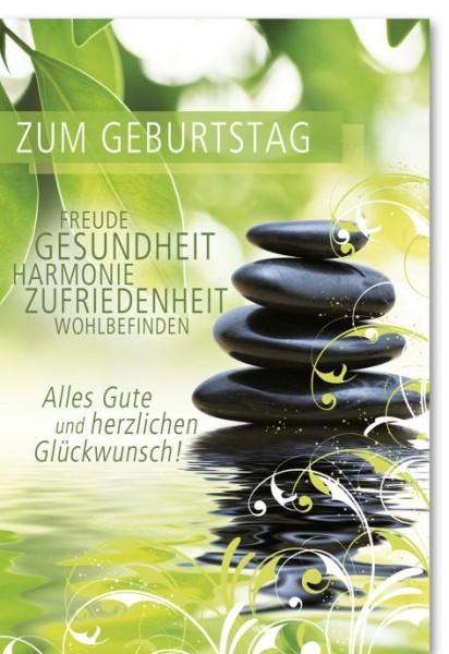 Karte Geburtstag Motiv Steine Turm
