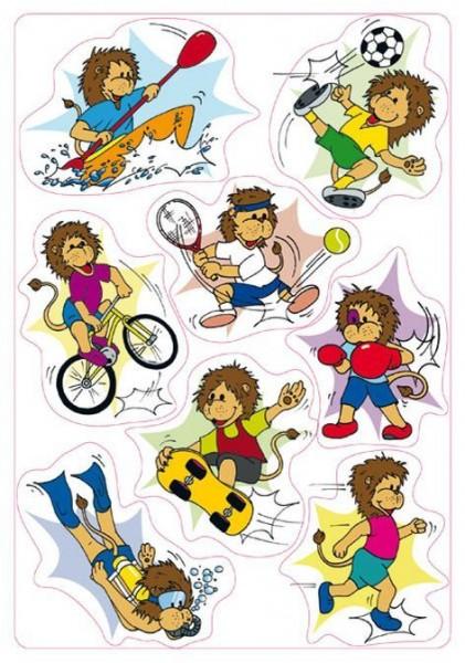 Sticker Magic Löwen sportlich