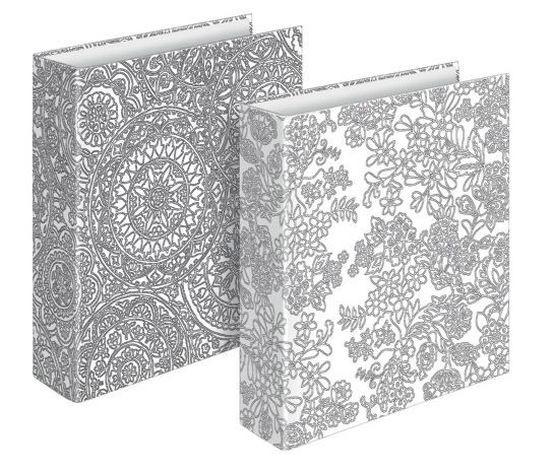 Briefordner kreativ, Papier/Papier, A4, 295 x 315 mm, sortiert, zum Ausmalen