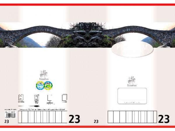 Heft A4 Lin.23 16 Blatt Rautiert 5X9 Mm