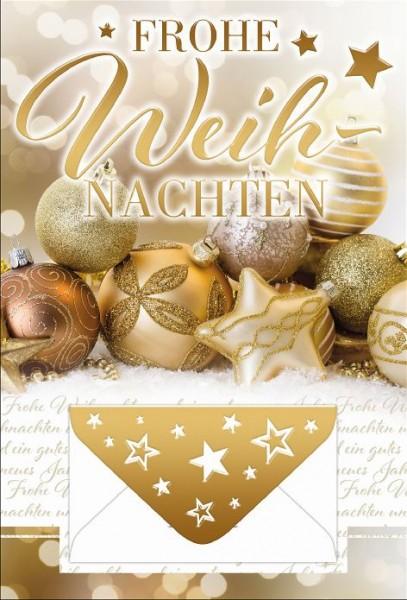 Karte Weihnachten Motiv Geldkarte Folie gold