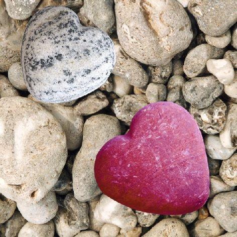 Serviette 33x33cm Atelier Heart of Stone