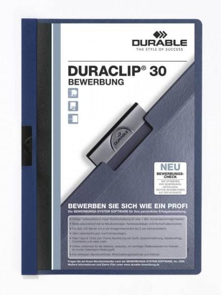 Bewerbungs-Mappe Duraclip Blau 2244-07