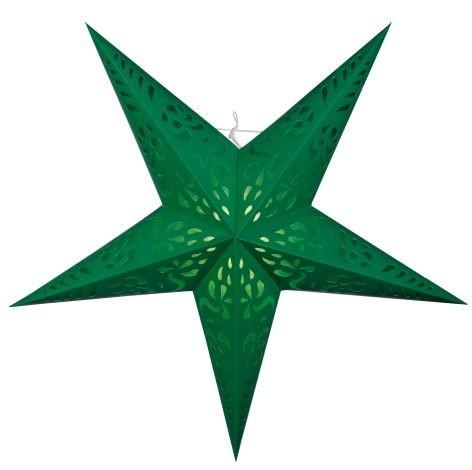 Beleuchtung Papier Stern 5zackig grün 60cm