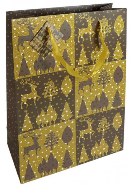 Tragetasche 25X33X11cm Weihnachten Lack Glimmer