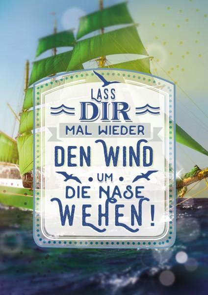 """Great Cards """"Sail away - Den Wind um die Nase wehen"""" - Segelschiff, mit Musik"""