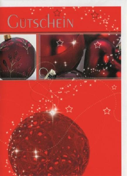 Karte Gutschein Motiv Weihnachtsgutscheinkarte