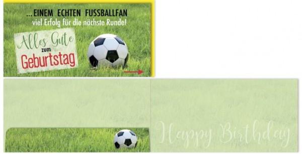 Karte Geburtstag Motiv Fussballfan