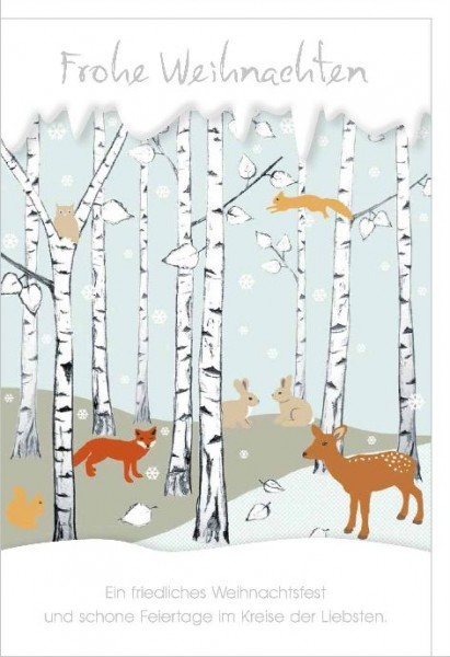 Karte Weihnachten Motiv Winterland gränzende