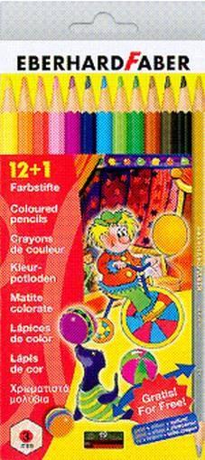 Farbstift sechskant 12er-Etui mit Spitzer