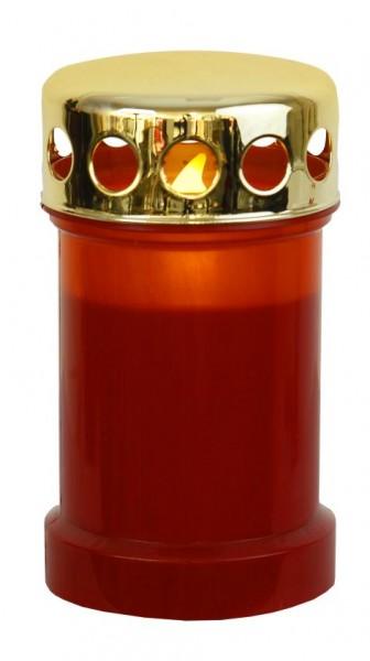 Grablicht Kunststoff mit LED flackernd rot