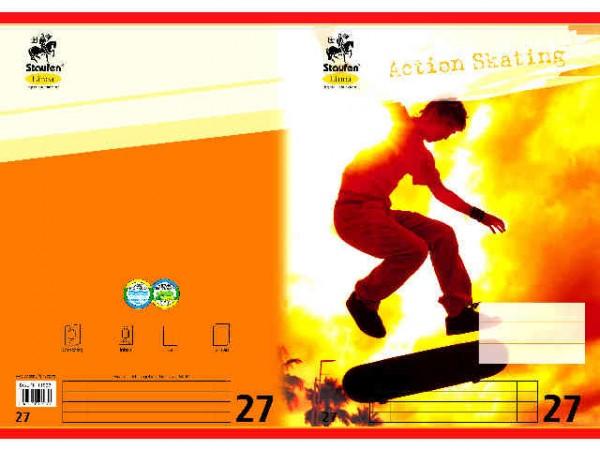 Heft A4-16 Lin 27 liniert Doppelrand