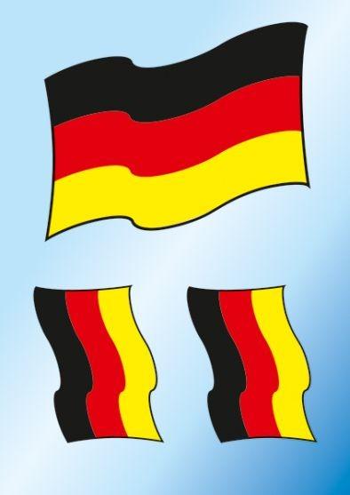 Bügelbild Fahne Deutschland
