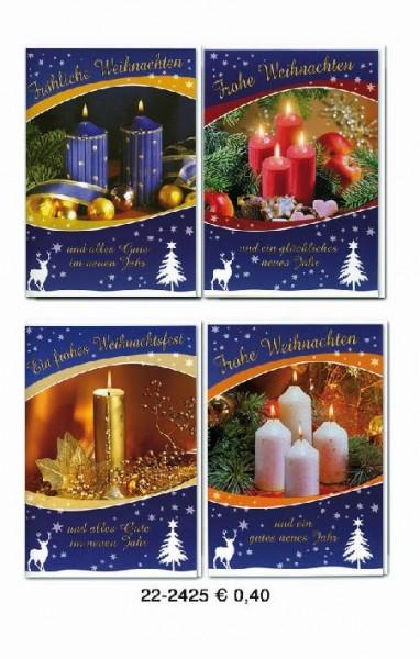 Karte Weihnachten Motiv Doppeltext