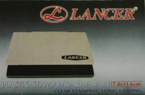 Stempelkissen Lancer Gr2 schwarz SF71575 Kunststof